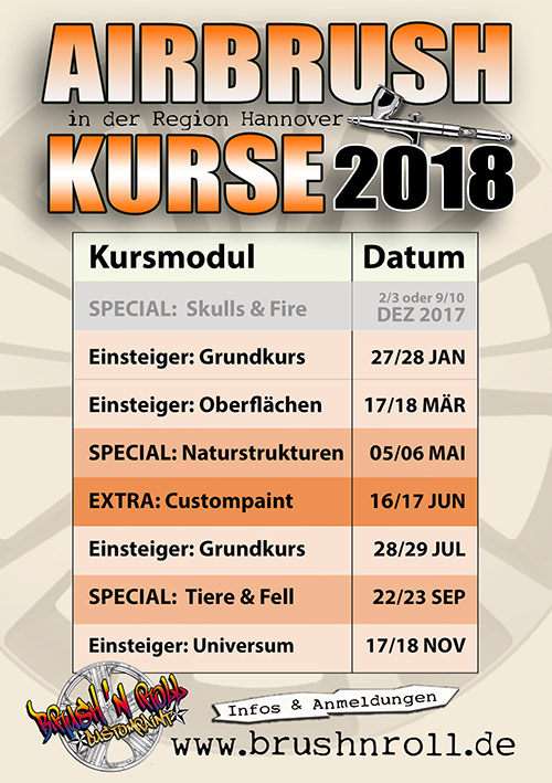 Airbrush Kurse und Workshops